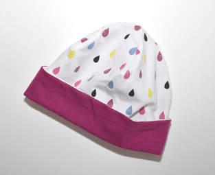 Glitzernde Regenbogentropfen-Mütze für gute Laune und warme Ohren