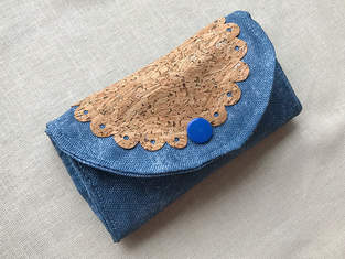 "Makerist - Purse ""Hanna"" with cork fabric appliqué - 1"