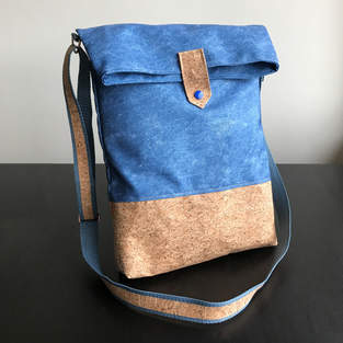 Shoulder bag with cork fabric