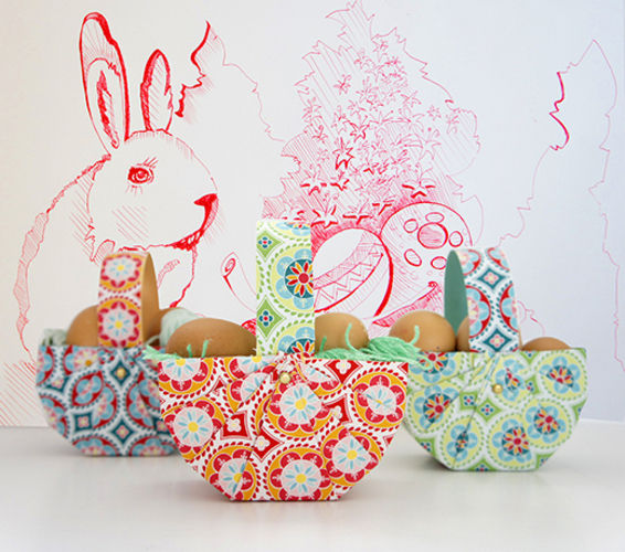 Makerist - Osterkorb aus Tonpapier und Stoff in 10 Minuten - DIY-Projekte - 1