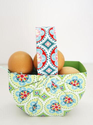 Makerist - Osterkorb aus Tonpapier und Stoff in 10 Minuten - DIY-Projekte - 2