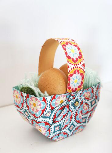 Makerist - Osterkorb aus Tonpapier und Stoff in 10 Minuten - DIY-Projekte - 3
