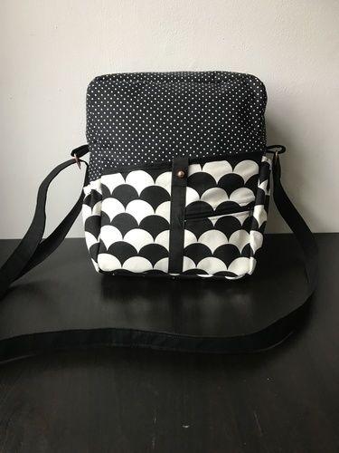 """Makerist - Handtasche """"Mini-Valerie"""" in schwarz-weiß - Nähprojekte - 1"""