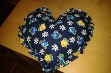 Makerist - Herzkissen mit Rüschenrand - 1