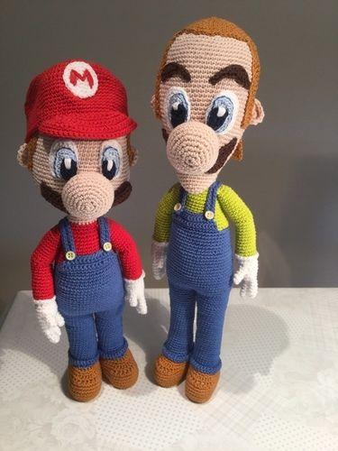 Makerist - Mario und Luigi - Häkelprojekte - 1