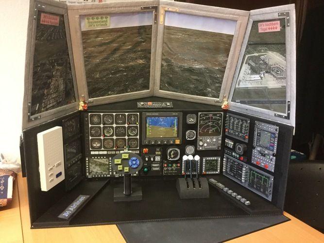 Makerist - Flugzeug-Cockpit aus Pappe - Werkzimmer - 1