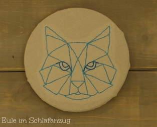 Makerist - gestickte Katze - Wandbild - 1