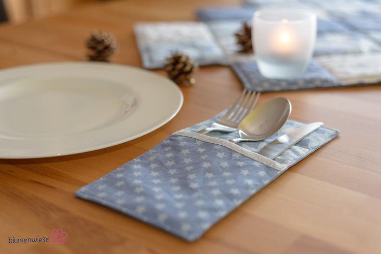 Makerist - weihnachtliche Bestecktasche (Freebook) - Nähprojekte - 3