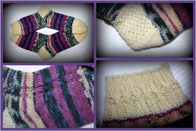 Makerist - Socken mit Zöpfchen - Strickprojekte - 1