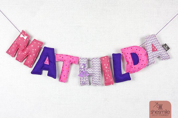 Makerist - Namenskette Mathilda - Nähprojekte - 1