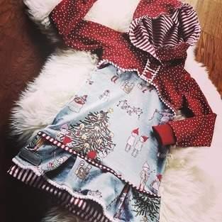Wichtel-Weihnachtskleid in Gr. 98