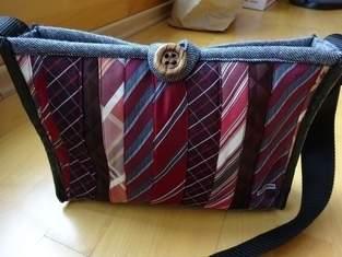 Makerist - Handtasche aus Krawatten und einem ausgedienten Wollblazer - 1