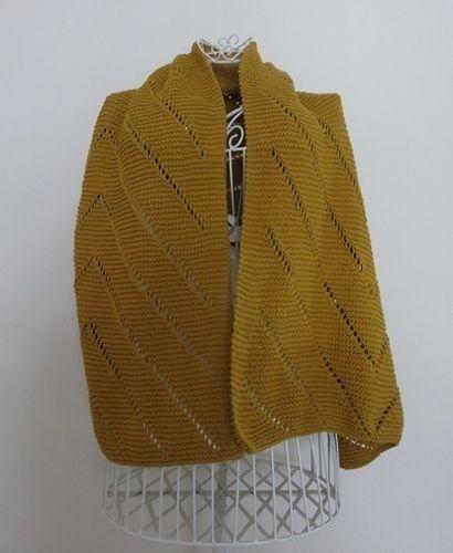 Makerist - Maxi étole moutarde - Créations de tricot - 3