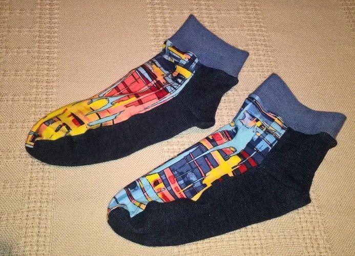 Makerist - Socken aus Resten und altem Pullover - Nähprojekte - 1