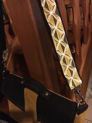 Makerist - sac Léo daim moutarde et noir - Créations de couture - 2