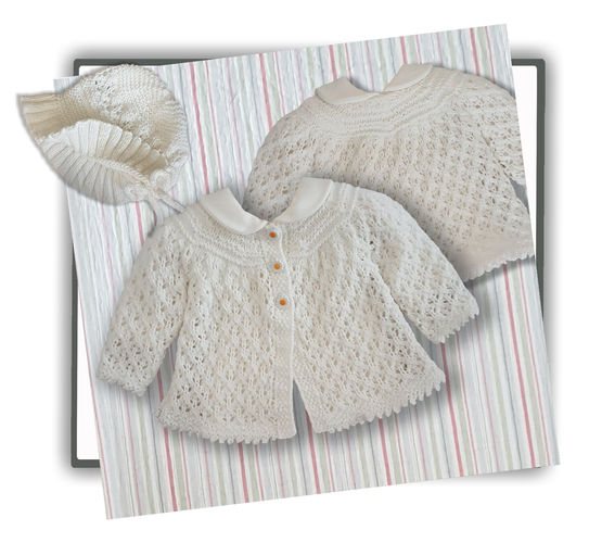 Makerist - Angel Lace Baby Layette  0 - 12 months - Knitting Showcase - 2