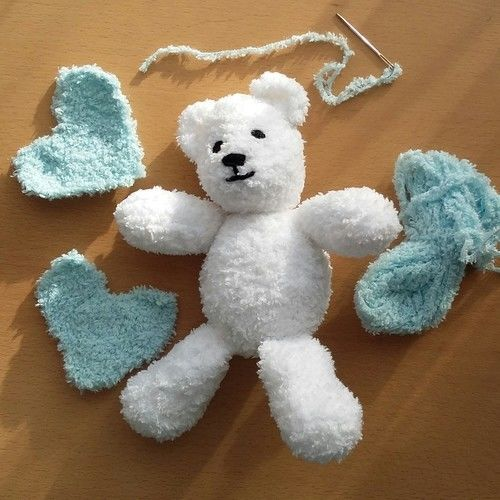 Makerist - Little blue heart Teddy  - Knitting Showcase - 1