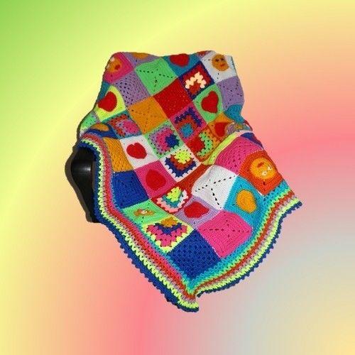 Makerist - Bunte Baby Decke - Häkelprojekte - 1