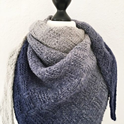 "Makerist - Tuch ""November Blues"" - Strickprojekte - 2"
