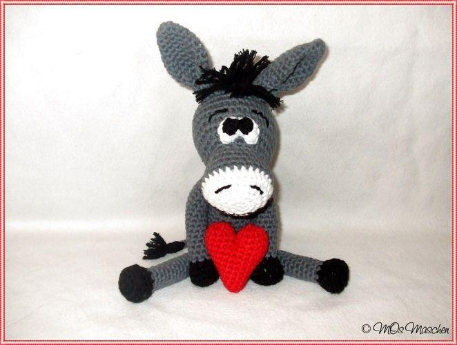Makerist - Eddy, der verliebte Esel - Häkelprojekte - 1