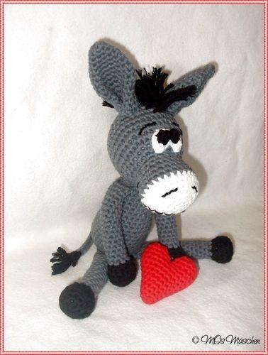 Makerist - Eddy, der verliebte Esel - Häkelprojekte - 2