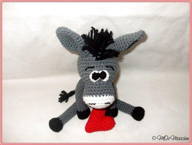 Makerist - Eddy, der verliebte Esel - Häkelprojekte - 3