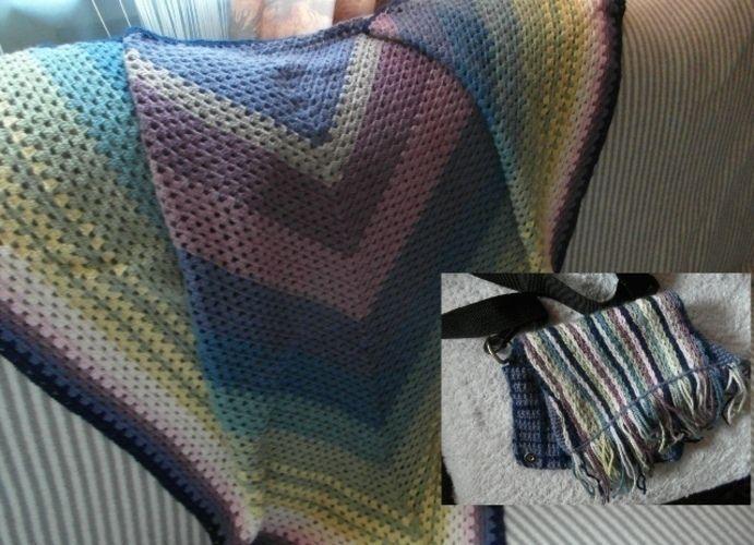 Makerist - Schultertuch mit Tasche aus den Resten der Wolle - Häkelprojekte - 1