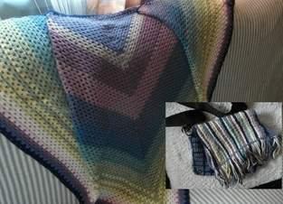 Makerist - Schultertuch mit Tasche aus den Resten der Wolle - 1