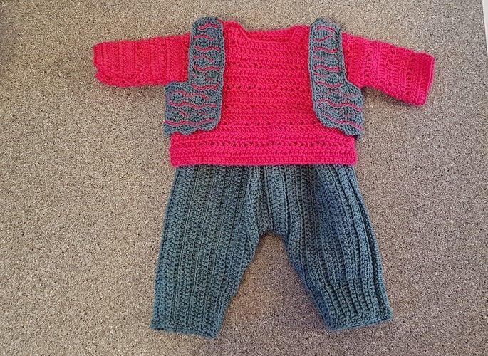 Makerist - Freizeitdress für Babypuppe - Häkelprojekte - 2