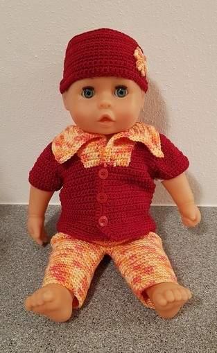 Sommerdress für Puppe 35 - 38 cm