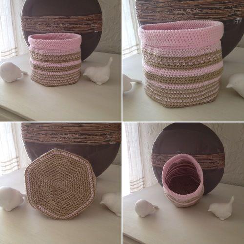 Makerist - Pochon doux tons - Créations de crochet - 1