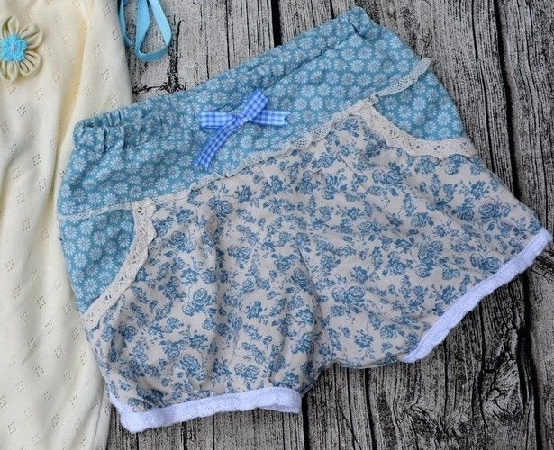 Makerist - Vintage Shorty aus Baumwolle - Nähprojekte - 1