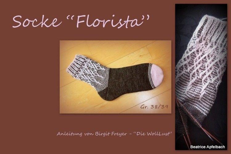 "Makerist - Socke ""Florista"" - Strickprojekte - 3"