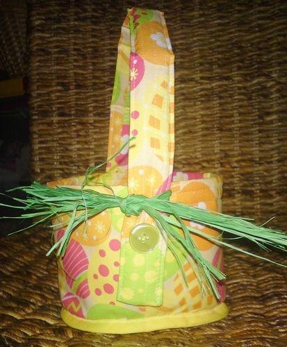 Makerist - Eierkörbchen mit Bügel abknöpfbar und 4 Eierwärmer - Nähprojekte - 1