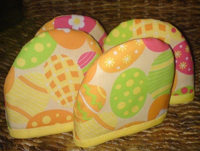 Makerist - Eierkörbchen mit Bügel abknöpfbar und 4 Eierwärmer - Nähprojekte - 2