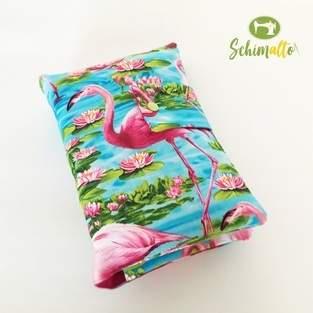Windeltasche im Flamingo-Look