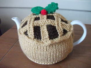 Hand Knitted Mince Pie Tea Cosy