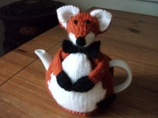 Hand Knitted Fox Tea Cosy