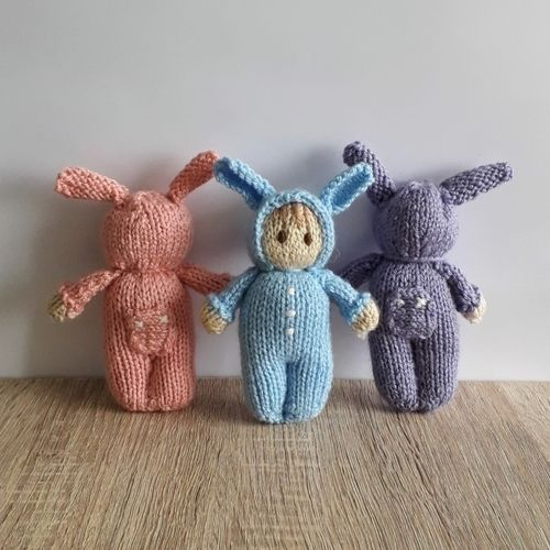 Makerist - Easter Bunny Bitsy Baby doll - Knitting Showcase - 1
