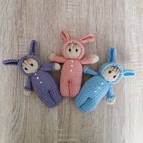 Makerist - Easter Bunny Bitsy Baby doll - Knitting Showcase - 2