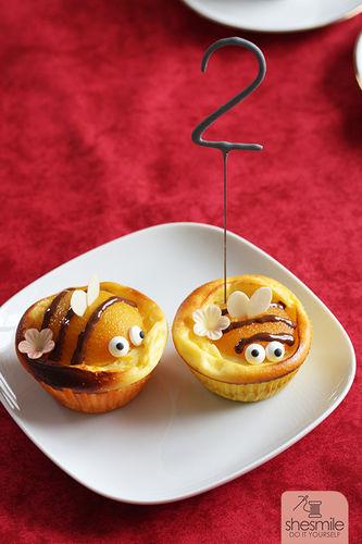 Makerist - Bienen-Käsekuchen-Muffins - Torten, Cake Pops und Cupcakes - 1