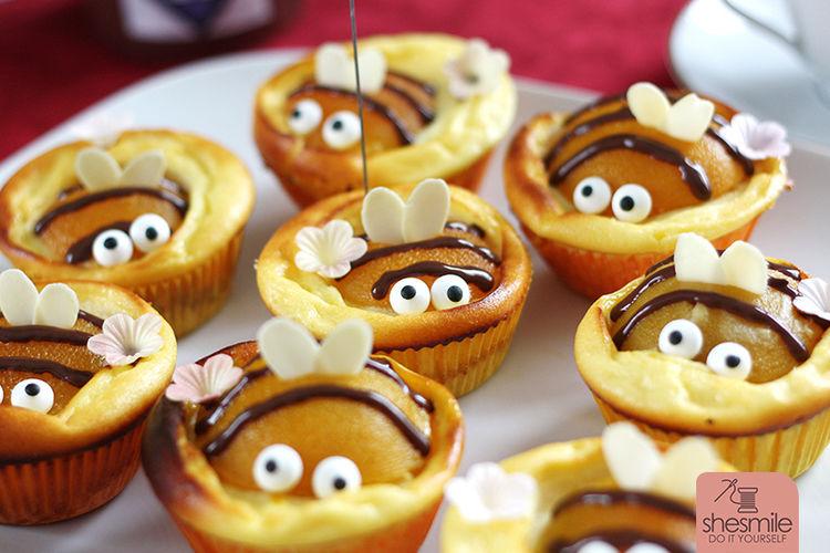 Makerist - Bienen-Käsekuchen-Muffins - Torten, Cake Pops und Cupcakes - 2