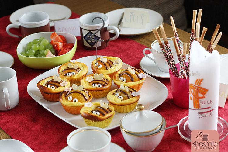 Makerist - Bienen-Käsekuchen-Muffins - Torten, Cake Pops und Cupcakes - 3