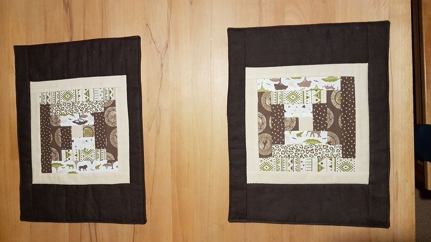 Makerist - Log cabin Tischsets - Patchwork-Projekte - 1