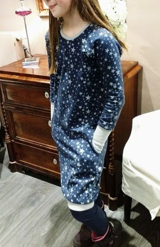 Makerist - Teen Hipster Dress aus Sternen-Sweat - Nähprojekte - 2