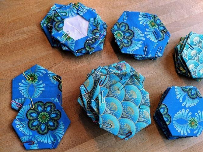 Makerist - English Paper Piecing - Patchwork mit der Hand - Patchwork-Projekte - 3