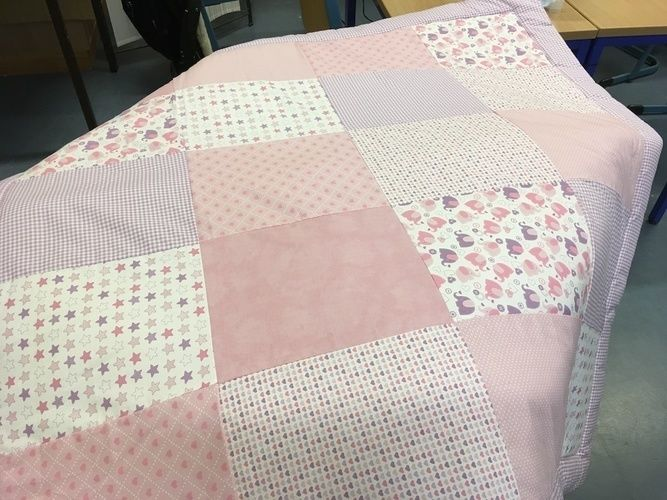 Makerist - Babydecke rosa Elefant - Nähprojekte - 2