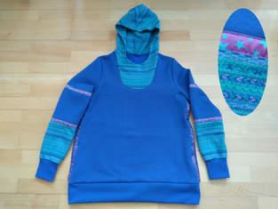 Makerist - Sweat-Pulli kobaltblau Lady Serena - Variante Kapuze - 1