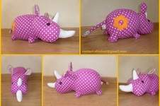Makerist - Peluche Rhino rose - 1