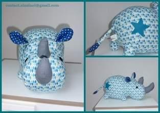 Makerist - Peluche Rhino bleue - 1